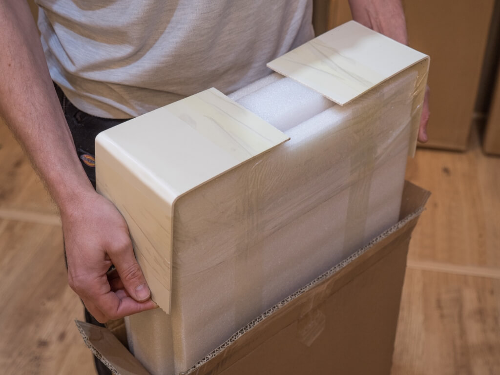 Carefully remove the door panels from the packaging. & Installation Guide | Shush Doors Ltd - The Quieter Slider